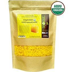 USDA Organic Yellow Beeswax Pellets by Sky Organics  -Superi