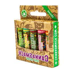 CannaSmack Vegan Hemp Lip Balm Collection Pack - 5 Flavorts