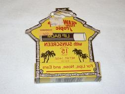 Vintage 1984 NOS In OB Hawaiian Tropic Lip Balm Chapstick wi