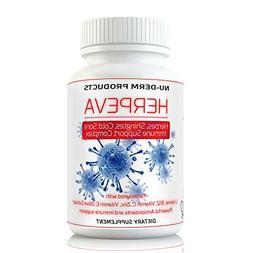 Herpeva Best Virus Shingles Cold Sores Anti Virus Supplement