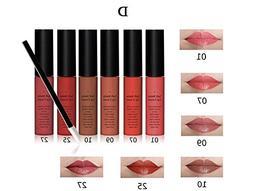 Tmalltide Makeup Waterproof Lip Gloss liquid lipstick set of