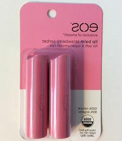 x2 Eos Evolution Of Smooth Lip Balm Stick 100% Natural You C