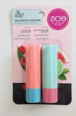 X2 Eos Lip Balm Sticks Watermelon, Fresh Mint, Lime & Martin